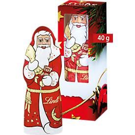 Lindt & Sprüngli Weihnachtsmann, Vollmilch, 40 g, inkl. Druck und allen Grundkosten
