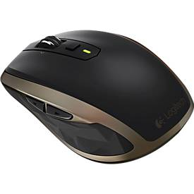 Logitech Maus MX Anywhere 2 kabellos, schwarz/bronze, Laser-Sensor, USB-Anschluss
