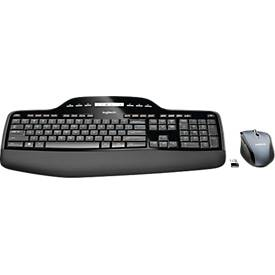 Logitech Wireless Desktop MK710, ergonomique, kit de clavier et souris