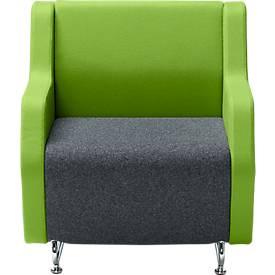Lounge FORUM Ein-Sitzer mit niedriger Rückenlehne und Armlehnen