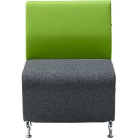 Lounge FORUM mit niedriger Rückenlehne, Verkettungsmodul