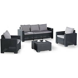 Lounge-Gruppe Mombasa 4-tlg., graphit/hellgrau