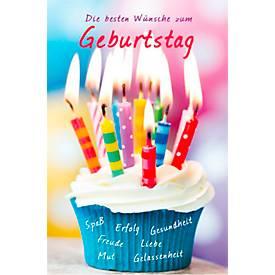 LUMA Doppelkarte Geburtstag, Motiv Muffin m. Ke...