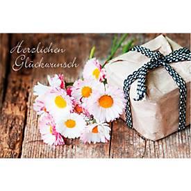 LUMA Doppelkarte Glückwunsch, Motiv Blumen u. G...