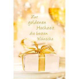 LUMA Doppelkarte Goldhochzeit, Motiv Geschenk, ...