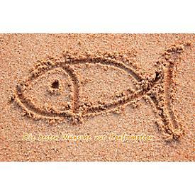 LUMA Doppelkarte Konfirmation, Motiv Fisch im S...