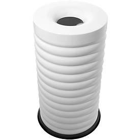 Lumes prullenbak, 52 liter inhoud, gegalvaniseerde binnenbak, wit, 52 liter inhoud.