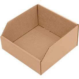 Magazijnbak van karton, L 200 x B 100 x H 200 mm, 50 stuks