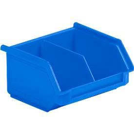 Magazijnbakken met zichtopening LF 110M blauw