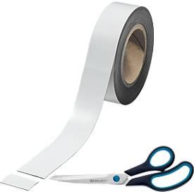 """Magnet-Band weiß + Universalschere """"Easy Grip"""" Gratis"""