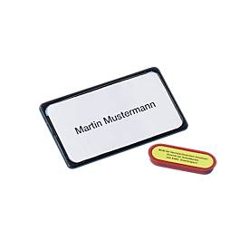 Magnet-Namensschilder, schwarz, 10 St.
