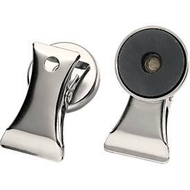 Magnete mit Dokumentenklemme, 2 Stück