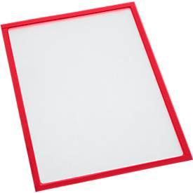 Magnetische panelen, voor A4 formaten, 10 stuks, rood