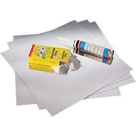 Magnetoplan Magnetowand®, zur Befestigung unter Tapete, Inhalt 4, 8 oder 20 Platten