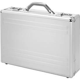 Maletín para portátil, con asa de transporte, 1 compartimento, plata