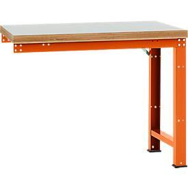 Manuflex Anbauwerkbank Profi Standard, Tiefe 700 mm, Breite und Tischplatte wählbar