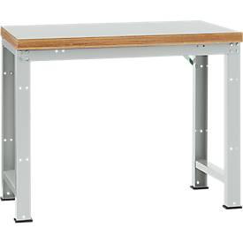 Manuflex Grundtisch Profi Standard, T 700 x H 840 mm, Breite und Platte wählbar