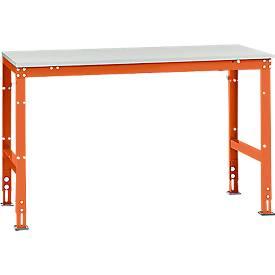 Manuflex Grundtisch UNIVERSAL Standard, T 800 mm, Breite und Tischplatte wählbar
