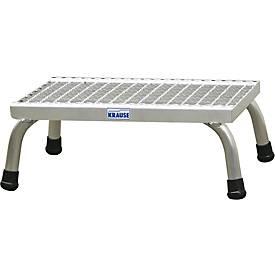 Marchepied avec marches grillagées en aluminium