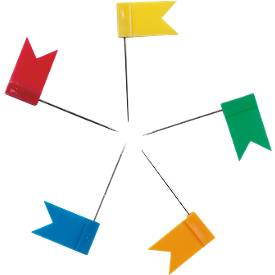 Markeervlaggetjes, in diverse kleuren