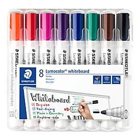 Marqueur STAEDTLER pour Whiteboard Lumocolor®, lot de 8, coloris assortis
