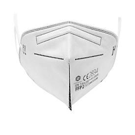 Image of Masken FFP2, EN 149-2001+A1:2009/CE2834, Einweg, 4-lagig, verstellbarer Nasenclip, weiß, 2 Stück