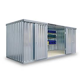 Materialcontainer MC 1500, lackiert, montiert