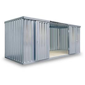 Materialcontainer MC 1500, verzinkt, montiert