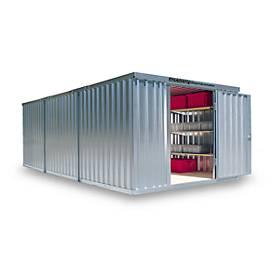 Materialcontainer Mod. 1360, verzinkt, zerlegt, mit Holzfußboden
