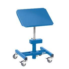 Materialständer, fahrbar, manuell höhenverstellbar, Plattform neigbar