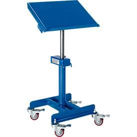 Materialständer, fahrbar, manuell, Höhenverstellung 720-1070 mm