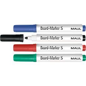 MAUL Boardmarker, schmal, farbsortiert, 4er Set