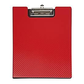 MAUL Klemmap flexx, DIN A4, met klem, rood, met klem.