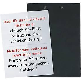 MAUL Klemmbrett, DIN A4, Kunststoff, mit Klarsichttasche