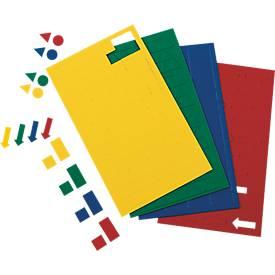 MAUL magneetsymbolen vierkanten, 10 x 10 mm, rood, 112 stuks