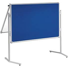 MAUL Moderationstafel Pro, klappbar, Textil/Whiteboard, blau