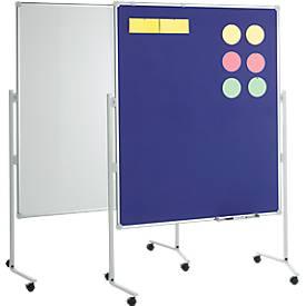MAUL Moderationstafel Pro, Textil, blau/Whiteboard