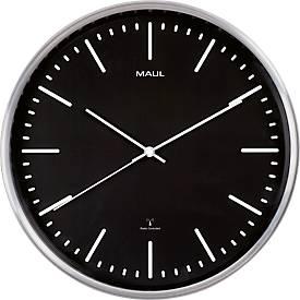 MAUL Wanduhr MAULfly, Design für das Büro, Durchmesser 30 cm, Funkuhr