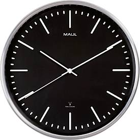 MAUL Wanduhr MAULfly, Durchmesser 30 cm, Funkuhr, schwarz