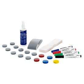 MAUL Whiteboard Zubehör Set Standard, Einsteiger-Set, für alle Whiteboards