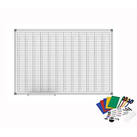MAULoffice jaarkalender planbord incl. uitgebreid toebehoren, 900 x 600 mm