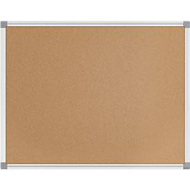 Maulstandard Pinboard Kork, Länge 600 bis 1500 mm, Wandmontage