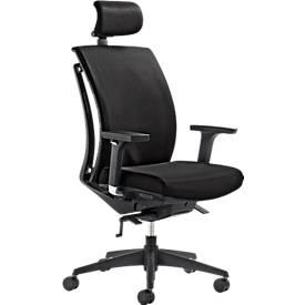 Mayer bureaustoel ARTICHAIR, synchroonmechanisme, met armleuningen, met hoofdsteun, zwart