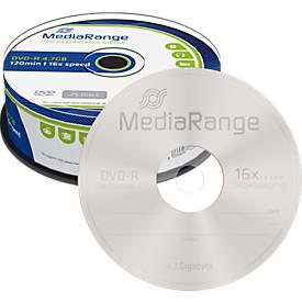 MediaRange DVD-R, 4,7 GB, 16-fache Schreibgesch...