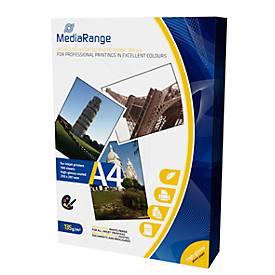 MediaRange Fotopapier A4, für Tintenstrahldrucker, hochglänzend, 100 Blatt a 135 g