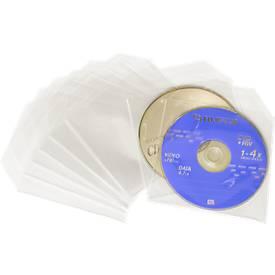 MediaRange Hoesjes voor 1 CD/DVD, transparant, geschikt voor verzending, pak van 50 stuks
