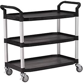 Mehrzweck-Tischwagen, Außenmaße: L 1100 x B 520 x H 1020 mm, schwarz