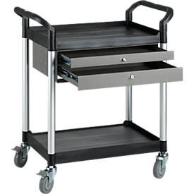 Mehrzweck-Tischwagen mit 2 Schubladen