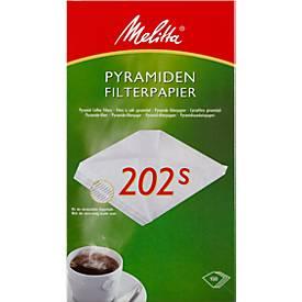 Melitta Pyramiden-Filterpapier 202S, 100 Stück