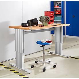 Mesa de trabajo Schäfer Shop Genius, regulable en altura eléctricamente, control sincrónico, W 1500 mm, carga máxima 400 kg